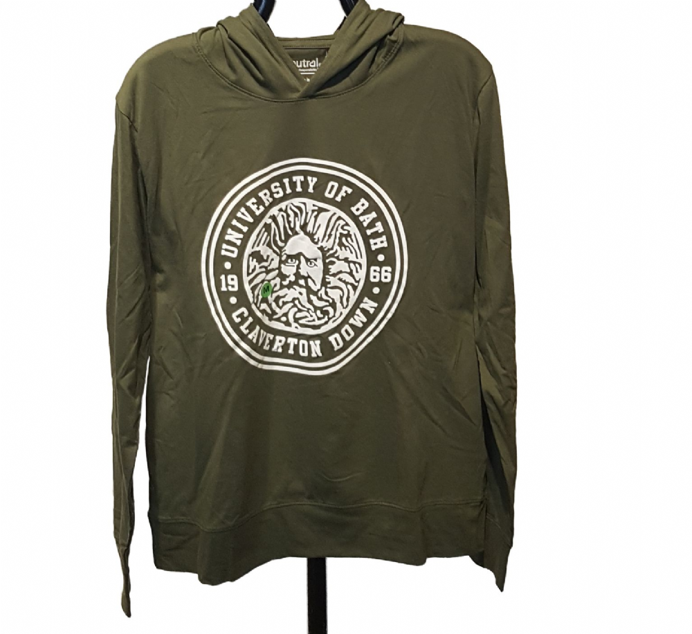 Neutral Jersey Hoodie in Military